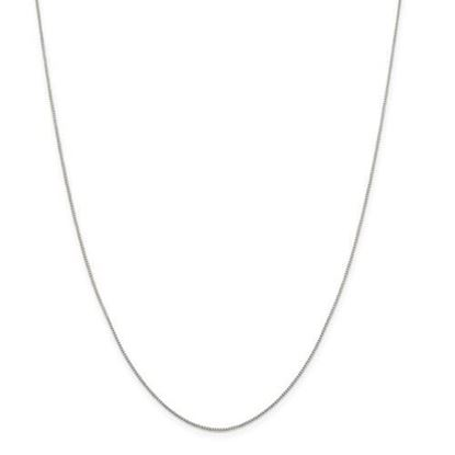 Picture of  Sterling Silver 0.8mm 8 Side Diamond Cut Box Chain Necklace