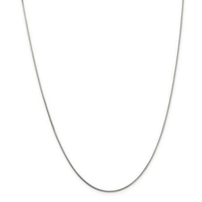 Picture of Sterling Silver 1mm 8 Side Diamond Cut Box Chain Necklace