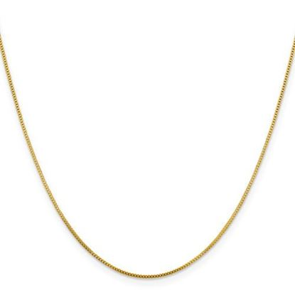 Picture of Flash Gold-plated Sterling Silver .8mm Box Chain Necklace