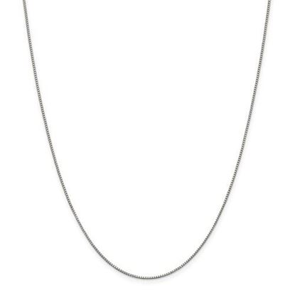 Picture of Sterling Silver Rhodium-plated .90mm Box Chain Necklace