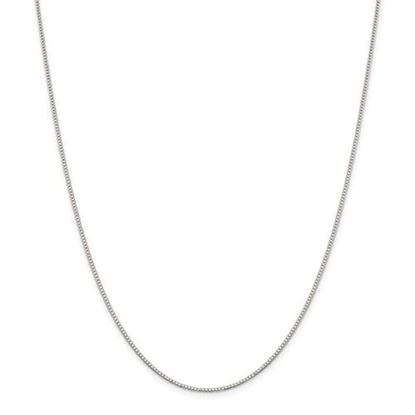 Picture of Sterling Silver Rhodium-plated 1.10mm Box Chain Necklace
