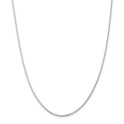 Picture of Sterling Silver Rhodium-plated 1.25mm Box Chain Necklace