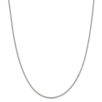 Picture of Sterling Silver Rhodium-plated 1.5mm Box Chain Necklace