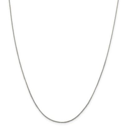 Picture of Sterling Silver 1mm Round Box Chain Necklace