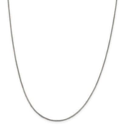 Picture of Sterling Silver 1.25mm Round Box Chain Necklace