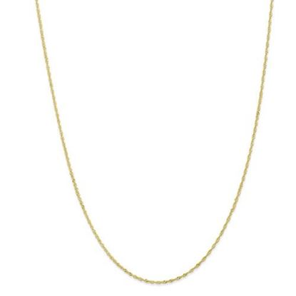 Picture of 10k Yellow Gold 1.10mm Singapore Chain Necklace