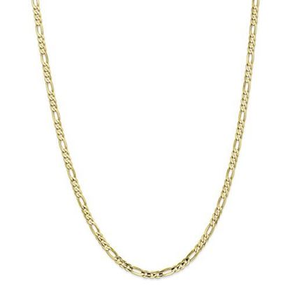 Picture of 10k Yellow Gold 4mm Light Concave Figaro Chain Necklace