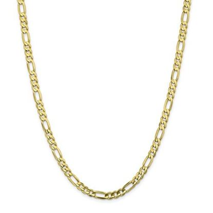Picture of 10k Yellow Gold 5.5mm Light Concave Figaro Chain Necklace