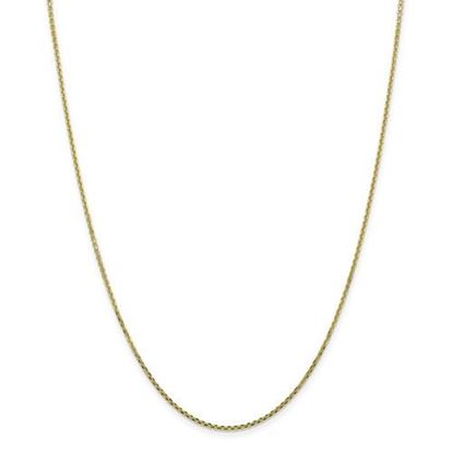 Picture of 10k Yellow Gold 1.3mm Solid Diamond Cut Cable Chain Necklace