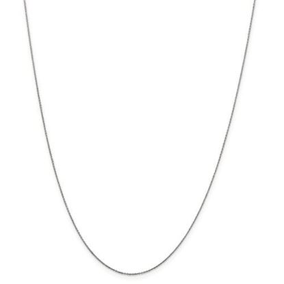 Picture of 10k White Gold .6mm Solid Diamond Cut Cable Chain Necklace