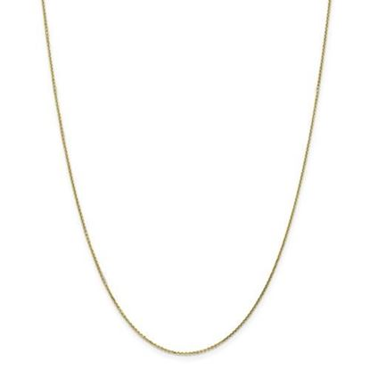 Picture of 10k Yellow Gold .95mm Diamond Cut Cable Chain Necklace
