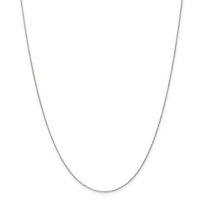 Picture of 10k White Gold .8mm Diamond Cut Cable Chain Necklace