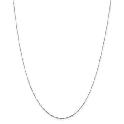 Picture of 10k White Gold .80mm Diamond Cut Cable Chain Necklace