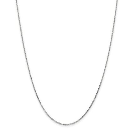 Picture of 10k White Gold 1.40mm Diamond Cut Cable Chain Necklace
