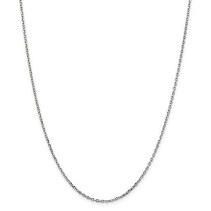 Picture of 10k White Gold 1.8mm Diamond Cut Cable Chain Necklace