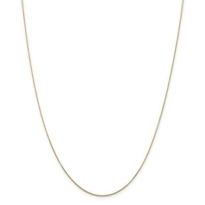 Picture of 10k Yellow Gold .80mm Diamond Cut Cable Chain Necklace