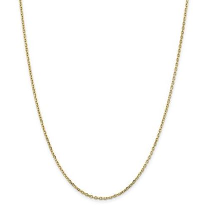 Picture of 10k Yellow Gold 1.8mm Diamond Cut Cable Chain Necklace