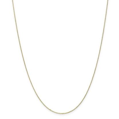 Picture of 10k Yellow Gold .8mm Diamond Cut Cable Chain Necklace