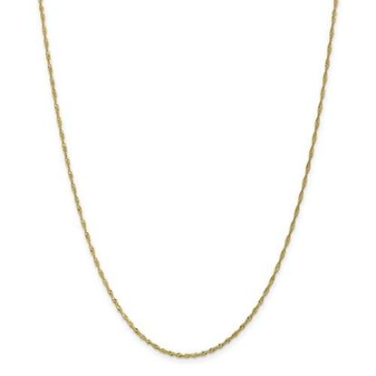 Picture of 10k Yellow Gold 1.4mm Singapore Chain Necklace