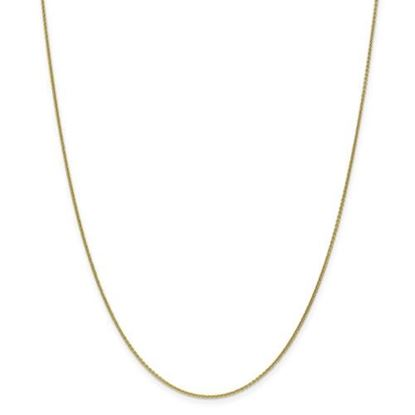 Picture of 10k Yellow Gold 1mm Cable Chain Necklace