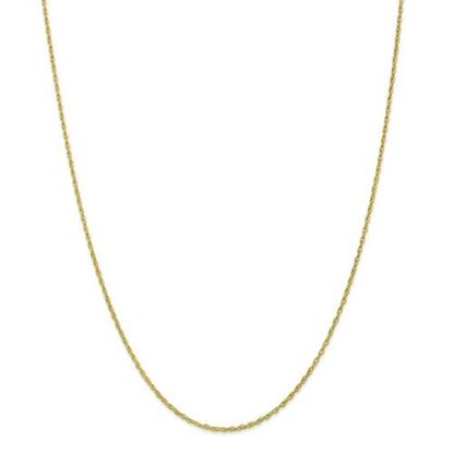 Picture of 10k Yellow Gold 1.3mm Heavy-Baby Rope Chain Necklace