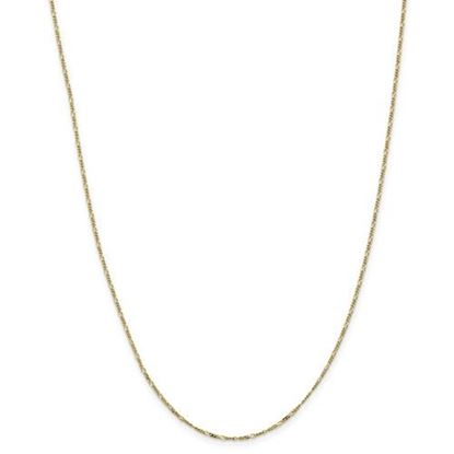 Picture of 10k Yellow Gold 1.25mm Flat Figaro Chain Necklace