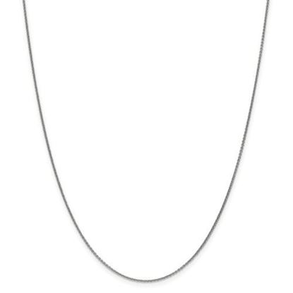 Picture of 10k White Gold 1mm Polished Cable Chain Necklace