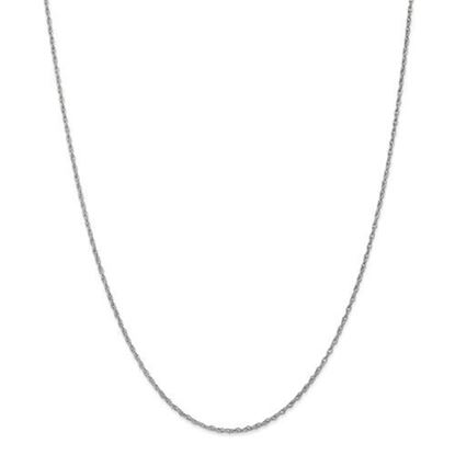 Picture of 10k White Gold 1.3mm Heavy-Baby Rope Chain Necklace