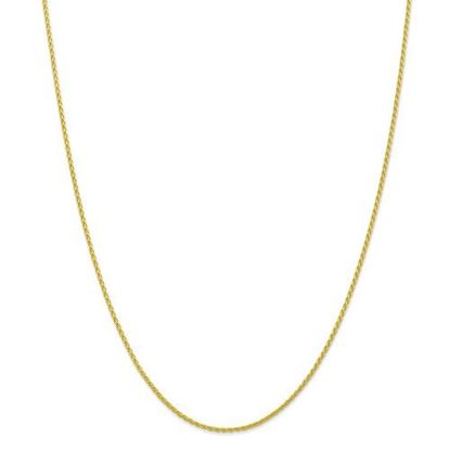 Picture of 10k Yellow Gold 1.5mm Parisian Wheat Chain Necklace