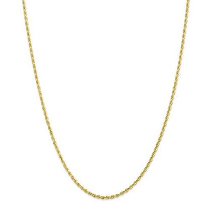 Picture of 10k Yellow Gold 2.25mm Diamond Cut Quadruple Rope Chain Necklace