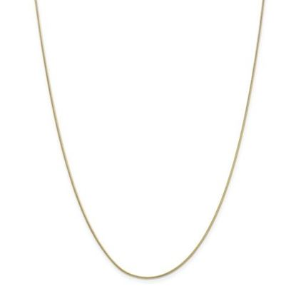 Picture of 10k Yellow Gold .90mm Round Snake Chain Necklace