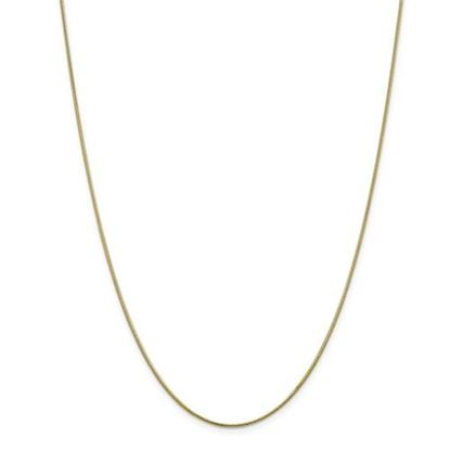 Picture of 10k Yellow Gold 1.1mm Round Snake Chain Necklace