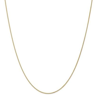 Picture of 10k Yellow Gold 1mm Spiga Chain Necklace