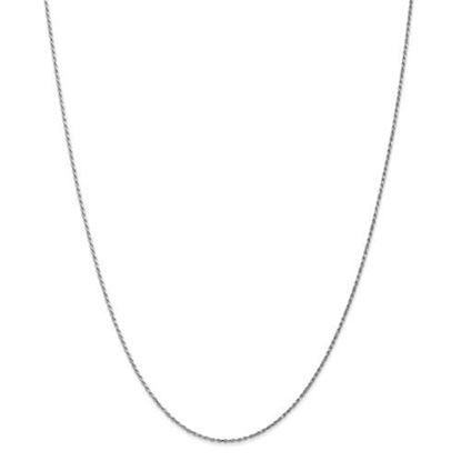 Picture of 10k White Gold 1.15mm Machine Made Diamond Cut Rope Chain Necklace