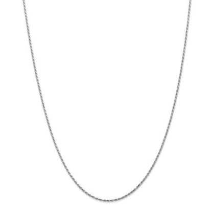 Picture of 10k White Gold 1.3mm Machine Made Diamond Cut Rope Chain Necklace
