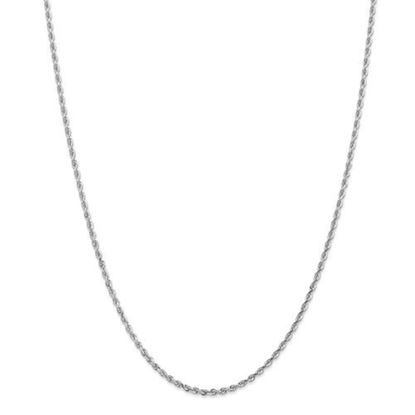 Picture of 10k White Gold 2.25mm Diamond Cut Quadruple Rope Chain Necklace