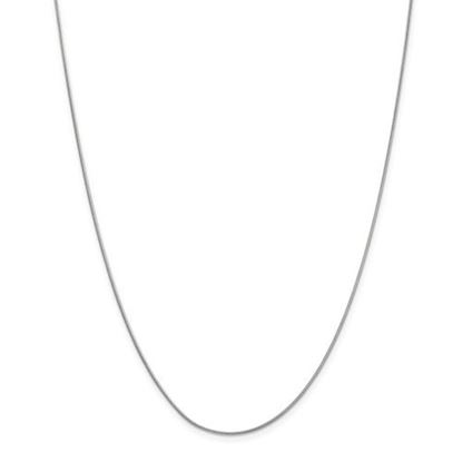 Picture of 10k White Gold .90mm Round Snake Chain Necklace