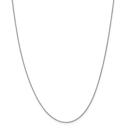 Picture of 10k White Gold .8mm Spiga Chain Necklace