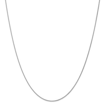 Picture of 10k White Gold 1mm Spiga Pendant Chain Necklace