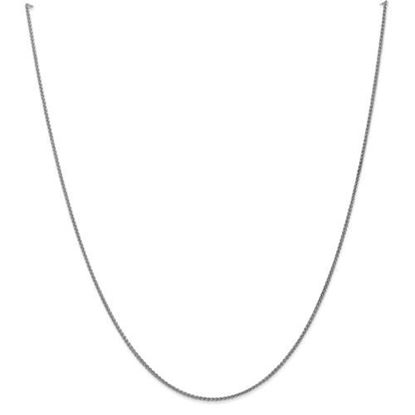 Picture of 10k White Gold 1.25mm Solid Polished Spiga Chain Necklace