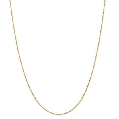 Picture of Leslie's 14k Yellow Gold 1.0mm Diamond Cut Wheat Chain Necklace