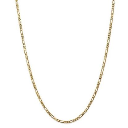 Picture of Leslie's 14k Yellow Gold 3.25.0mm Flat Figaro Chain Necklace