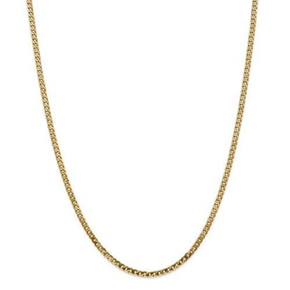 Picture of Leslie's 14k Yellow Gold 2.9mm Flat Beveled Curb Chain Necklace