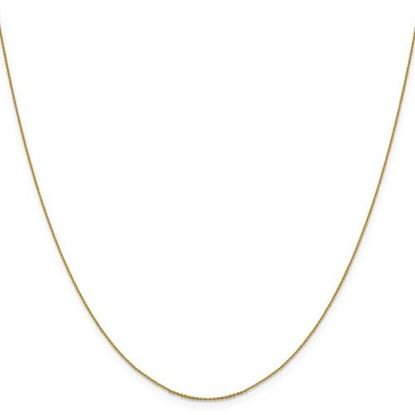 Picture of Leslie's 14k Yellow Gold .80 mm Diamond Cut Cable Chain Necklace