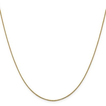 Picture of Leslie's 14k Yellow Gold .90 mm Diamond Cut Cable Chain Necklace
