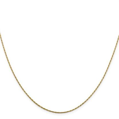 Picture of Leslie's 14k Yellow Gold .95 mm Round Diamond Cut Double Curb Snake Chain Necklace