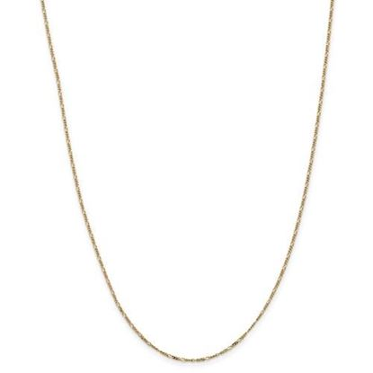 Picture of Leslie's 14k Yellow Gold 1.25mm Flat Figaro Chain Necklace