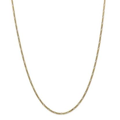Picture of Leslie's 14k Yellow Gold 1.80mm Flat Figaro Chain Necklace