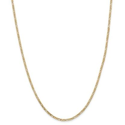 Picture of Leslie's 14k Yellow Gold 2.25mm Flat Figaro Chain Necklace