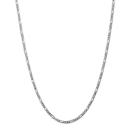 Picture of Leslie's 14k White Gold 3.0mm Flat Figaro Chain Necklace